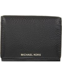 c948a2eabb27 MICHAEL Michael Kors Liane Small Grained Leather Wallet in Black for ...