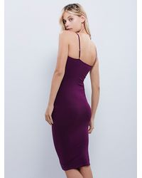 Free People - Purple Tea Length Seamless Slip - Lyst