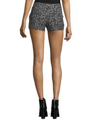 Alice + Olivia - Black Kristie Slim-fit Tweed Shorts - Lyst
