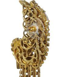 Erickson Beamon | Metallic Glass Pearl Centre Crystal Earrings | Lyst