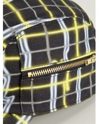 KENZO - Yellow 'neon Plaid' Cap for Men - Lyst