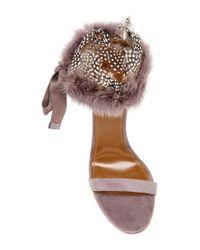 Aquazzura - Brown Iris High Heeled Sandals With Mink Accent - Lyst