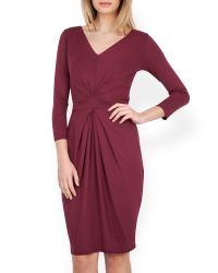 Closet | Red Jersey Tie Back Dress | Lyst