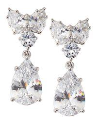 Fantasia by Deserio   White Pear-cut Cz Waterfall Chandelier Earrings   Lyst