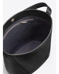Vince - Black Modern V Medium Bucket Bag - Lyst