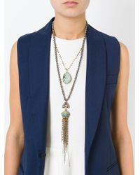 Katerina Psoma - Metallic Beaded Pendant Necklace - Lyst