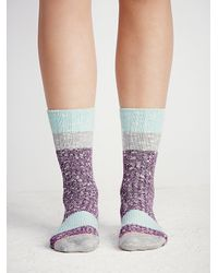 Free People - Purple Stance Womens Bear Crew Sock - Lyst