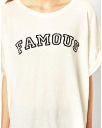 Wildfox - White Famous Tshirt - Lyst
