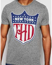 Hilfiger Denim | Gray T-shirt With New York Logo for Men | Lyst