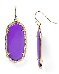 Kendra Scott - Purple Elle Earrings - Lyst