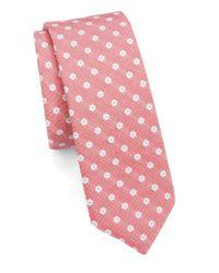 Original Penguin | Red Neat Floral Tie for Men | Lyst