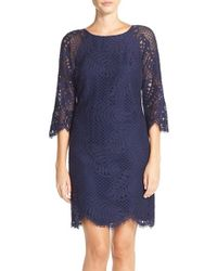 Lilly Pulitzer - Blue 'rylee' Lace Shift Dress - Lyst