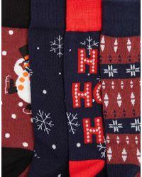 Jack & Jones   Multicolor 4 Pack Socks With Christmas Print for Men   Lyst