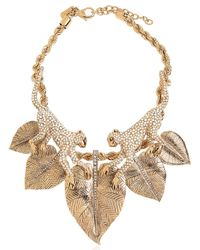 Roberto Cavalli | Metallic Monkey Necklace With Swarovski Crystals | Lyst