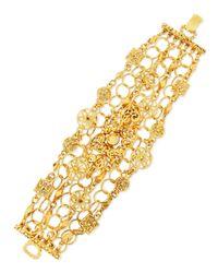 Jose & Maria Barrera - Metallic 24K Yellow Gold Plated Medallion Ornament Bracelet - Lyst
