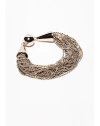 & Other Stories - Metallic Braided Multichain Bracelet - Lyst