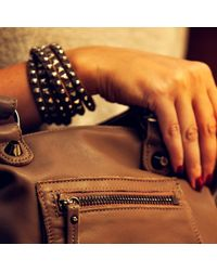 Linea Pelle | Green Double Wrap Mixed Studded Bracelet | Lyst