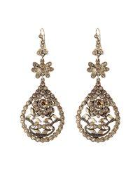Alberta Ferretti | Metallic Embellished Chandelier Earrings | Lyst