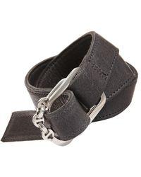 Hoorsenbuhs - Black Leather Wrap Bracelet - Lyst