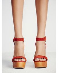 Free People - Brown Full Swing Platform - Lyst