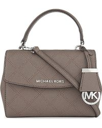 MICHAEL Michael Kors | Gray Ava Lattice Stitched Small Cross Body Bag | Lyst