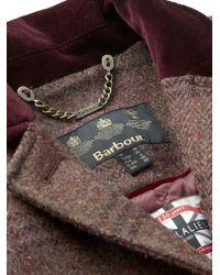 Barbour | Purple Stornaway Tweed Coat | Lyst
