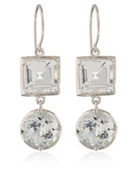 Dinny Hall - White Gold Rock Crystal Finola Anniversary Earrings - Lyst
