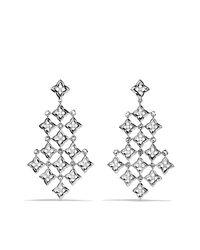 David Yurman - Metallic Quatrefoil Chandelier Earrings With Diamonds - Lyst