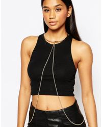 ALDO | Metallic Grasen Body Harness | Lyst