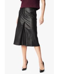 7 For All Mankind Black Leather Culottes