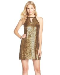 Parker Black | Metallic Embellished Silk Minidress | Lyst
