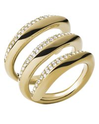 Michael Kors - Metallic Winding Statement Ring - Lyst