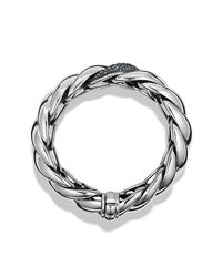 David Yurman | Blue Hampton Cable Bracelet With Diamonds | Lyst
