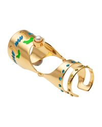 Maria Francesca Pepe | Metallic Articulated Gold-Plated Ring  | Lyst