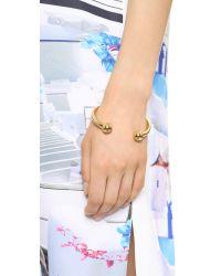 Fallon - Metallic Shalom Ball Cuff Bracelet Gold - Lyst
