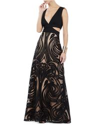 Lyst Bcbgmaxazria Marilyne Engineered Lace A Line Gown