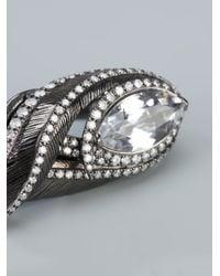 Garrard   Metallic Double Finger Ring   Lyst