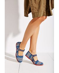 Urban Outfitters - Blue Printed Mary Jane - Lyst