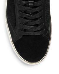 MICHAEL Michael Kors | Black Poppy Faux-fur High-top Sneaker | Lyst