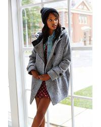 Numph | Gray Morgan Grey Wool Coat | Lyst