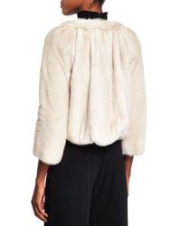 Co. - White Cropped Mink-Fur Jacket - Lyst