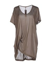 Rick Owens - Gray T-shirt - Lyst
