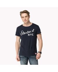 Tommy Hilfiger | Blue Cotton T-shirt for Men | Lyst