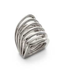 Vita Fede | Metallic Futuro Pavã© Crystal Cut Ring/silvertone | Lyst