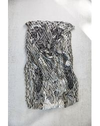 Urban Outfitters | Black Paisley Pleated Eternity Scarf | Lyst