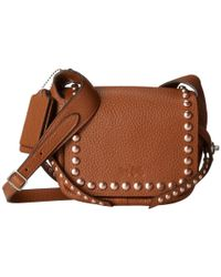 COACH - Brown Rvt Pbl Leather Dkth 15 - Lyst
