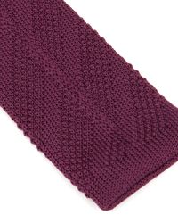 Ted Baker | Red Nitted Knit Tie for Men | Lyst