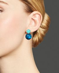 Ippolita - Blue Wonderland 2-stone Post Earrings In Mystic - Lyst