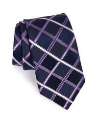 Michael Kors - Blue Check Silk Tie for Men - Lyst