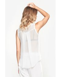 Raquel Allegra - White Sleeveless Shirt - Lyst
